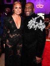 Gizelle and Jamal Bryant at theUNCF Atlanta Mayor's Masked Ball Atlanta 2019