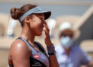 Naomi Osaka at the French Open Tennis. Roland-Garros 2021.