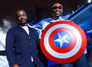 Anthony Mackie at the Avengers Campus assets