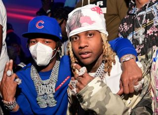 Lil Durk and Lil Baby at the Basketball Weekend