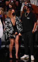 Celebrities Attend Brooklyn Nets v Milwaukee Bucks Game