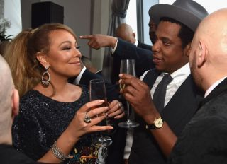Mariah Carey and Jay-Z at the 2018 Roc Nation THE BRUNCH