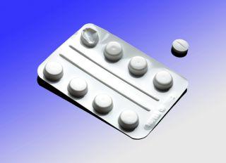 Blister pack of pills, illustration