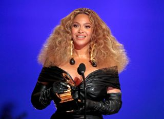 Beyonce at the 63rd Grammy Awards at Staples Center