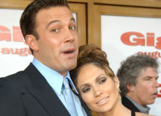 Ben Affleck and Jennifer Lopez at the Gigli California Premiere