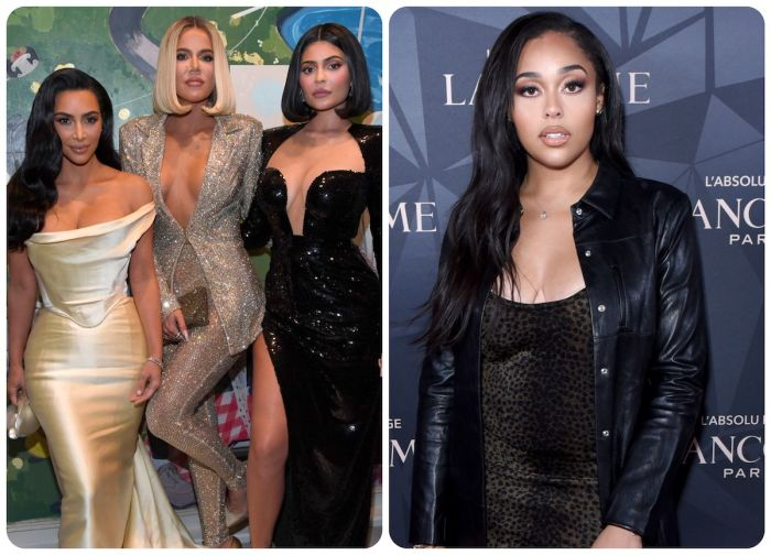 Kim Kardashian Khloe Kardashian Jordyn Woods and Kylie Jenner