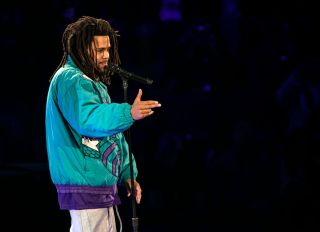J.Cole Attends The 68th NBA All-Star Game - Inside