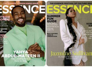 ESSENCE July / August covers featuring Yahya Abdul Mateen II and Jazmine Sullivan