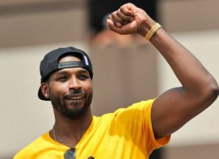 Tristan Thompson at Cleveland Cavaliers Victory Parade
