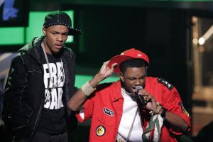 Soulja Boy and Bow Wow at the2008 BET Hip Hop Awards - Show