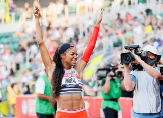 Gabby Thomas at the 2020 U.S. Olympic Track & Field Team Trials - Day 9