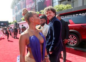 Saweetie and Jack Harlow at theBET Awards 2021 - Nissan Red Carpet