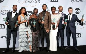 Black Panther Cast at the 25th Annual Screen Actors Guild Awards - Press Room