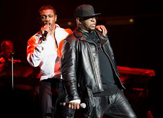 Bobby Brown and Keith Sweat at the Valentine's Music Festival: Keith Sweat, Bobby Brown and El Debarge