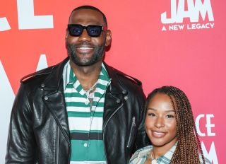 LeBron and Savannah James at the Space Jam: A New Legacy Party In The Park After Dark