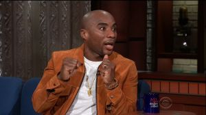 Charlamagne tha God during an appearance on CBS' 'The Late Show with Stephen Colbert.'