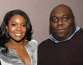 Faizon Love and Gabrielle Union at theYari Film Group Presents Screening of The Perfect Holiday