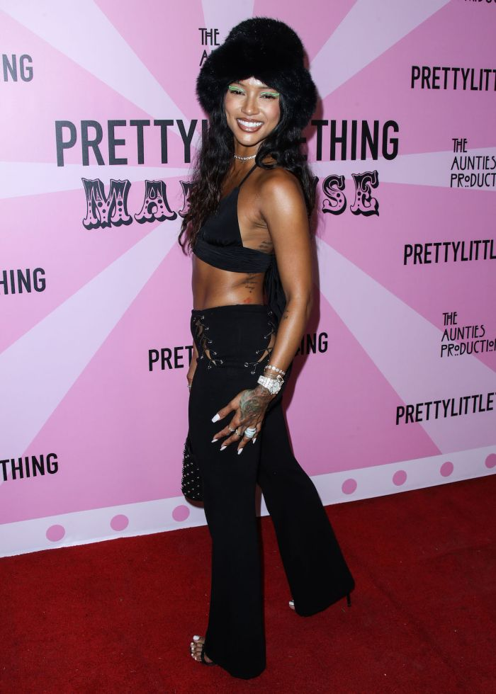 Karrueche Tran at the PrettyLittleThing Madhouse hosted by Teyana Taylor