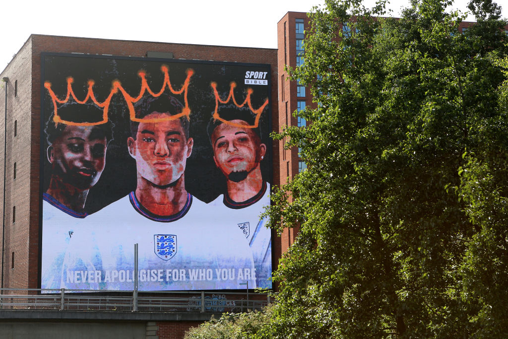 New Digital Mural Of The Three Black Footballers Racially Abused After England Lost The Euro's Final Is Unveiled
