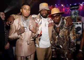 "NLE Choppa, 50 Cent, Da Baby attend the STARZ ""POWER BOOK III: RAISING KANAN"" RED CARPET AND WORLD PREMIERE"