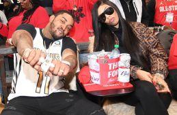 Celebrities Attend New York Knicks vs Atlanta Hawks