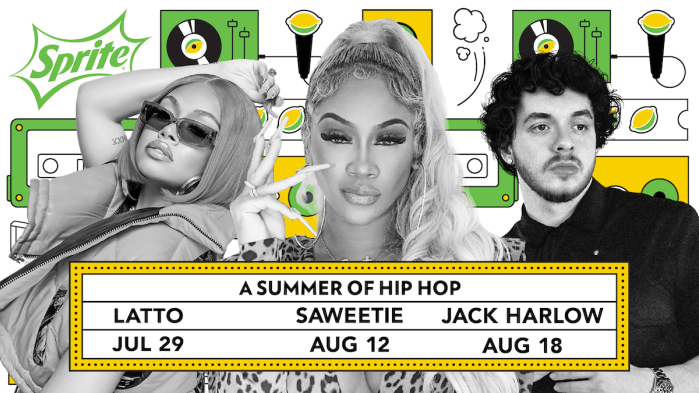 """Latto, Saweetie and Jack Harlow headline Sprite's """"Live From The Label"""" summer concert series"""