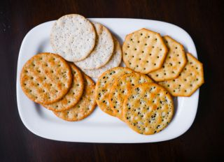Assorted Crackers on Plate