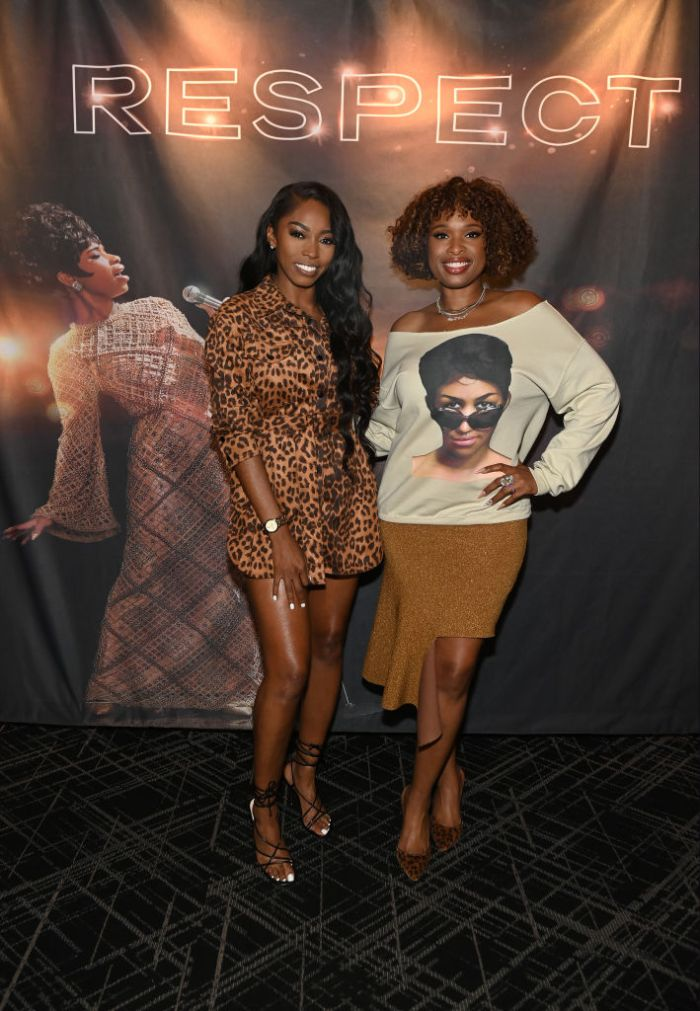 Jennifer Hudson Surprises Fans At A 'Queens Night Out' Screening Of Her Movie 'Respect' In Atlanta