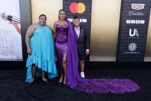 Jennifer Hudson sister and son David Otunga Jr. RESPECT World Premiere In Los Angeles