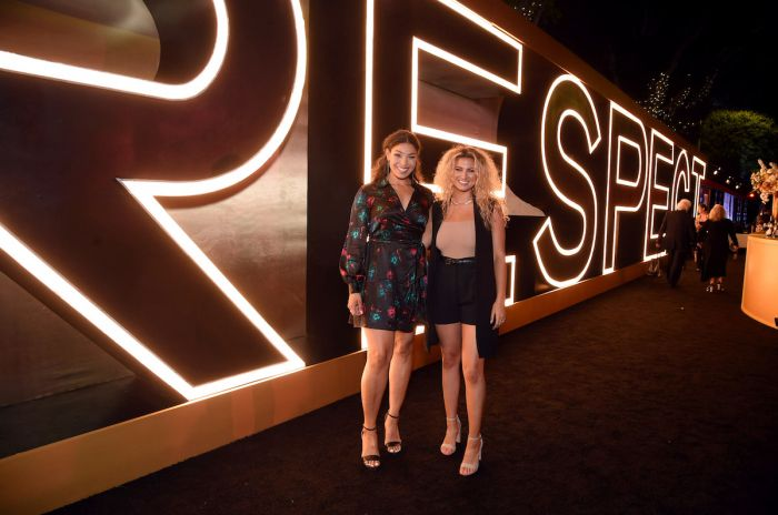 Jordin Sparks and Tori Kelly at the RESPECT World Premiere In Los Angeles