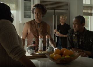 Truth Be Told episodic still featuring Ron Cephas Jones, Octavia Spencer, Andre Royo and Katherine LaNasa