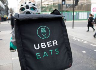 Uber Eats Delivery Bike Box In London