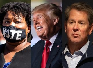 Donald Trump Stacey Abrams Brian Kemp