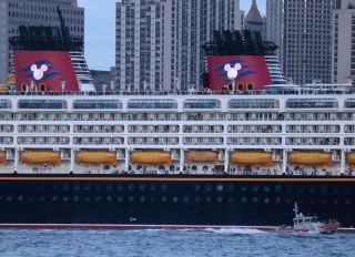 Disney Magic Cruise Ship in New York City