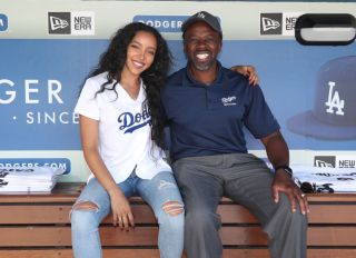 Celebrities At The Los Angeles Dodgers Game