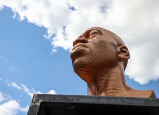 George Floyd, John Lewis and Breonna Taylor statues placed at Union Square in NYC