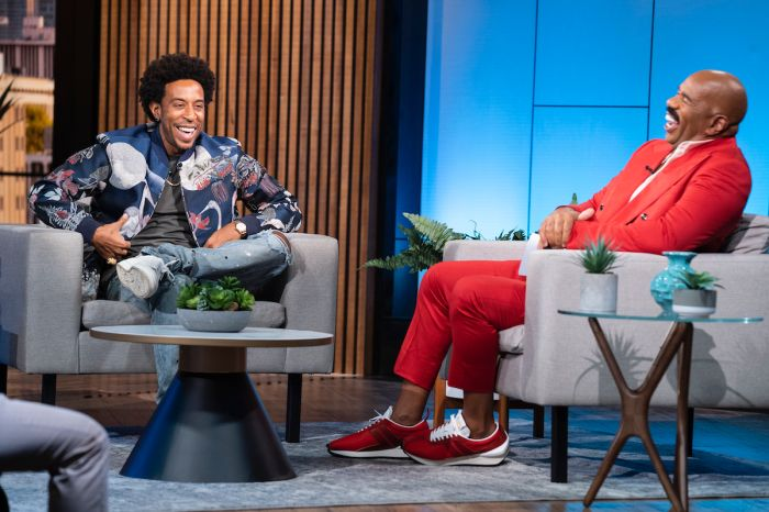Ludacris and Steve Harvey appear together on STEVE on Watch