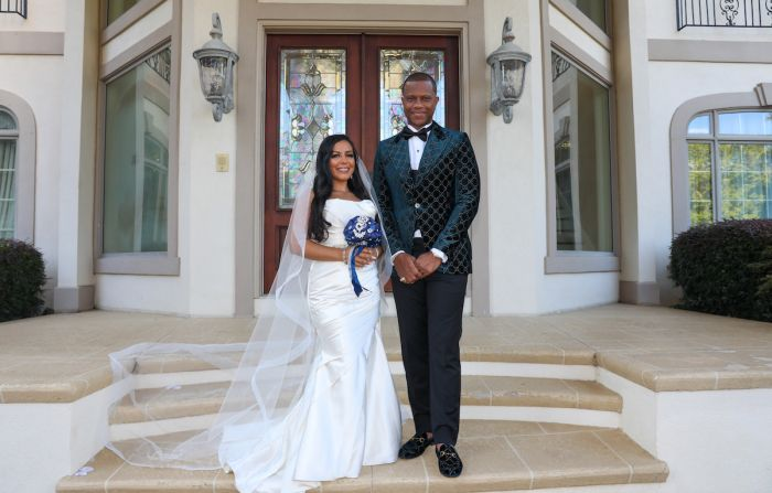 Cherina and Mowbray Rowand vow renewal