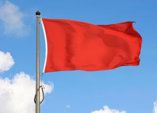 Red Flag - stock photo