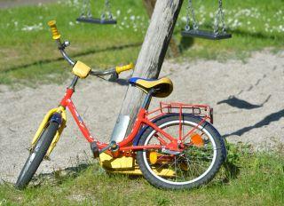 Abandoned child bike
