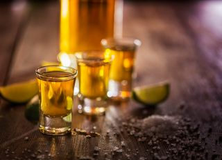 Tequila Shots with Salt and Lime